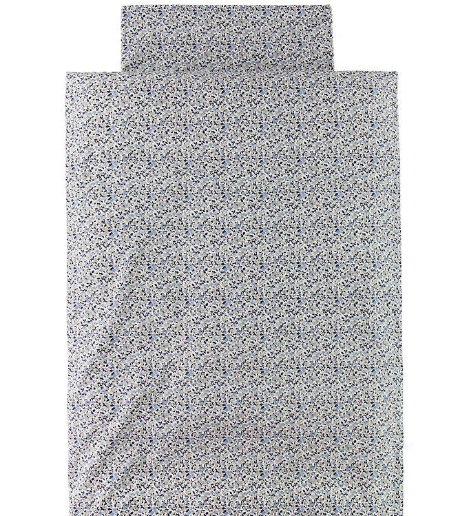 Nørgaard Madsens Sängkläder - Vuxen - Marinblå m. Blommor