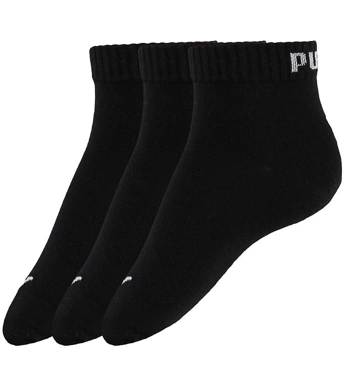 Puma Ankle Socks - 3-Pack - Quarter Plain - Black