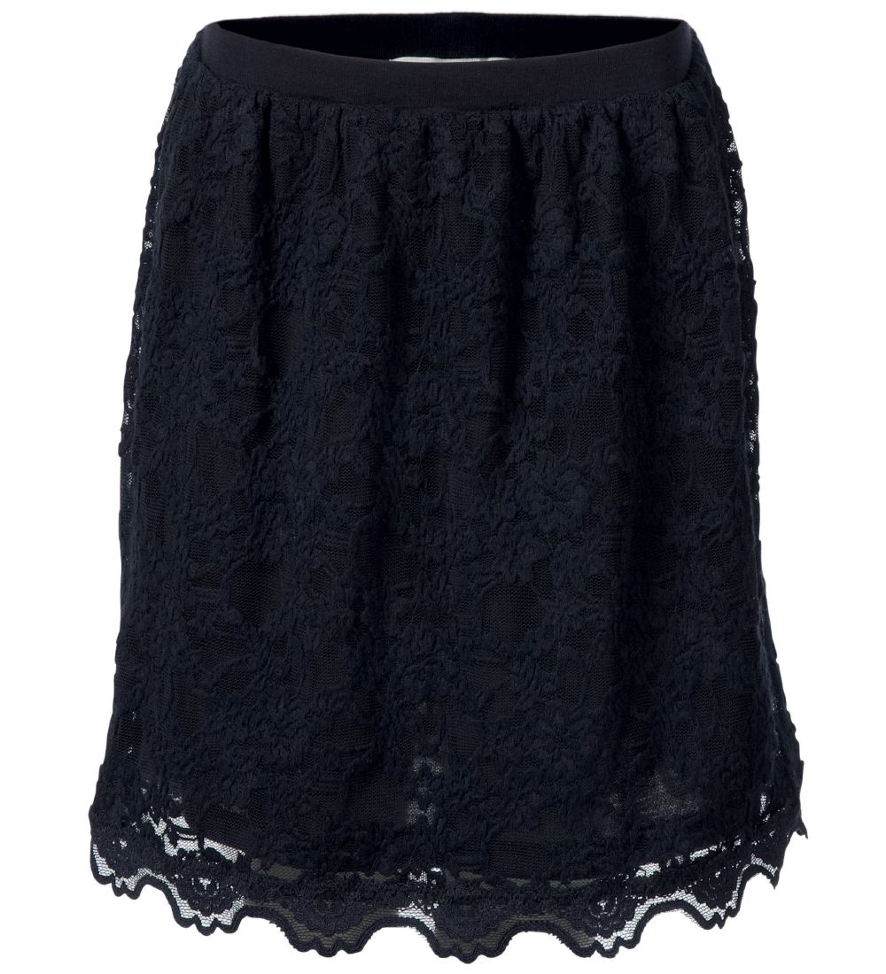 Rosemunde Skirt - Navy w. Lace