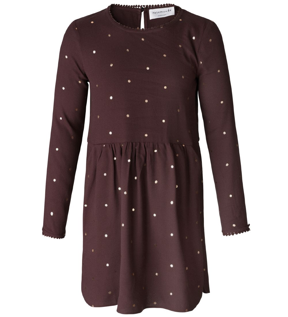 Rosemunde Dress - Bordeaux w. Dots