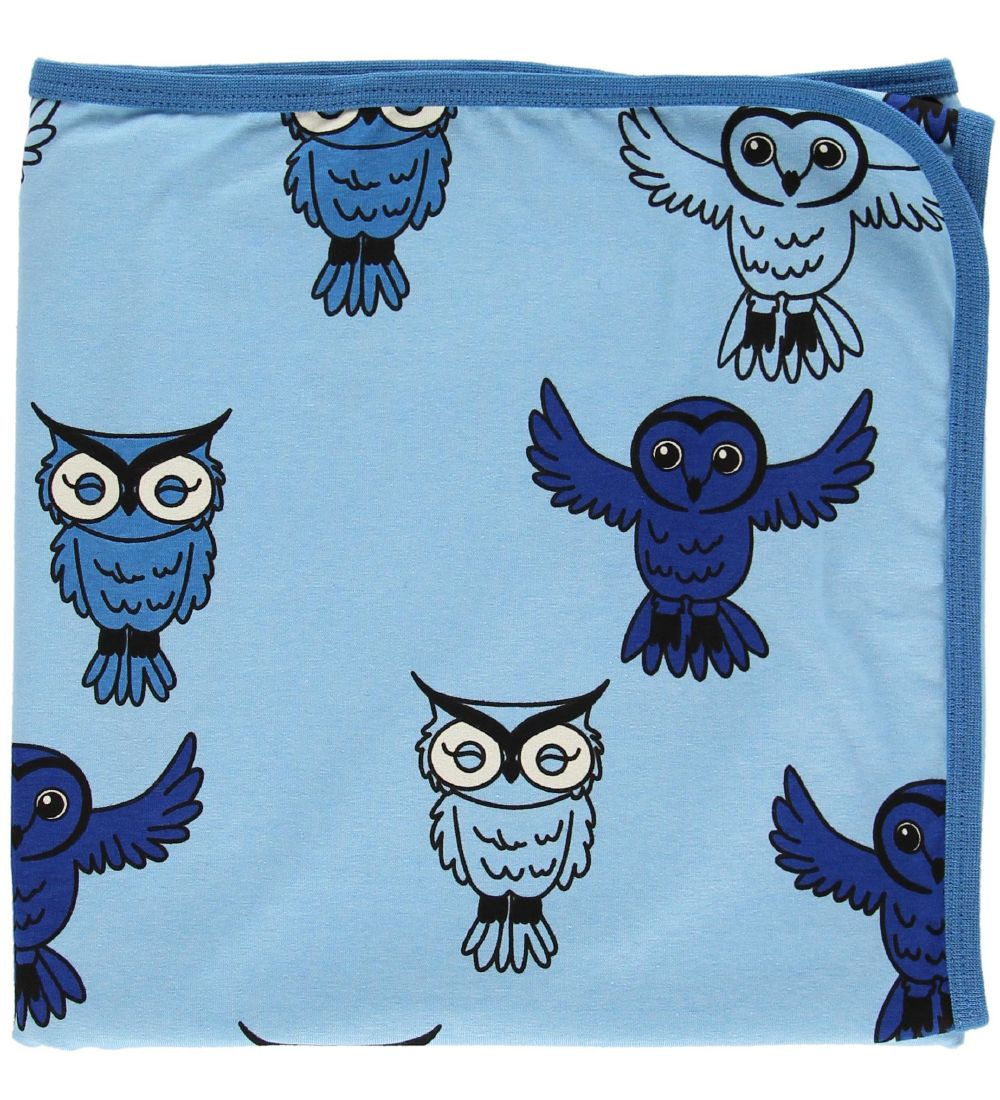Småfolk Baby Blanket - 85x85 - Blue/Owls
