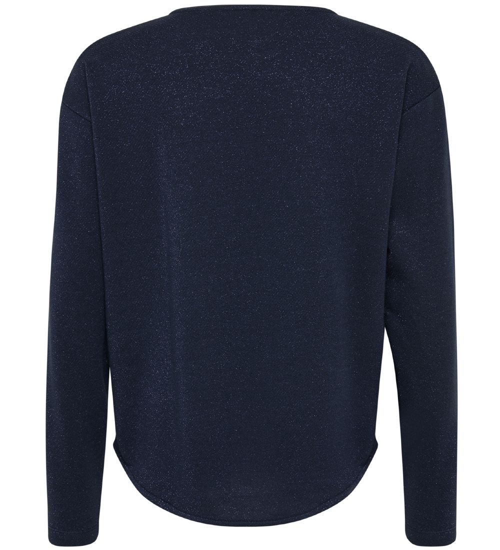 Hummel Teens Long Sleeve Top - Sabrina - Navy/Glitter