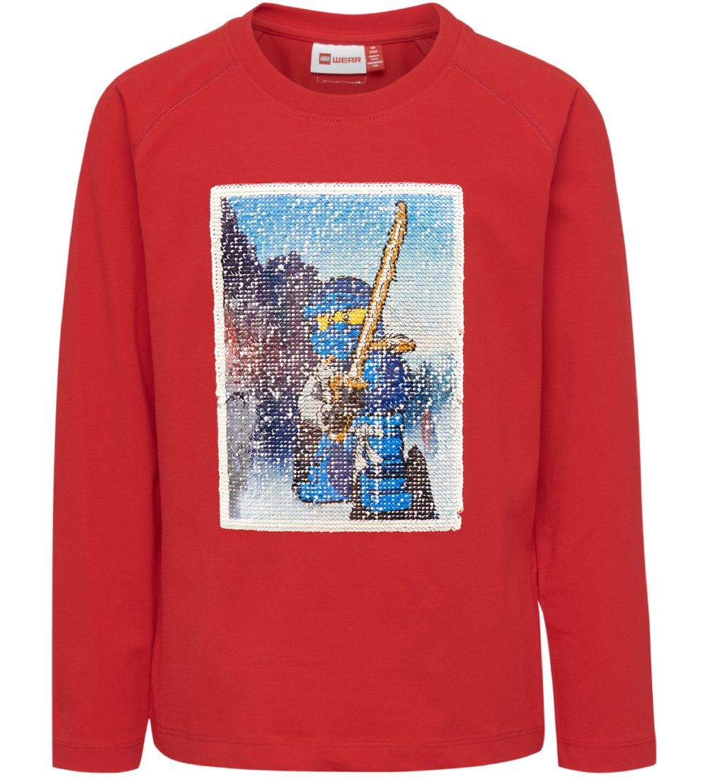 Lego Wear Long Sleeve Top - Red w. Ninjago/Sequins