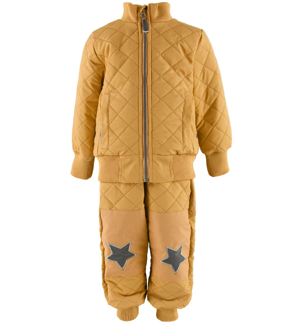 Mikk-Line Thermo Set w. Fleece - Coated - Honey Mustard
