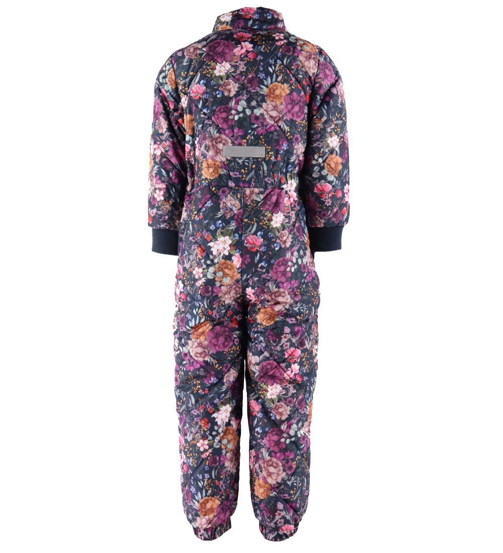 Name It Thermo Suit - NmfMarie - Dark Sapphire w. Flowers