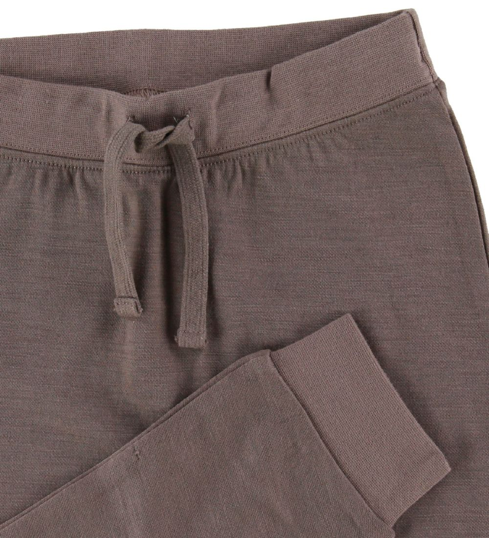 Hust and Claire Trousers - Wool/Bamboo - Brown