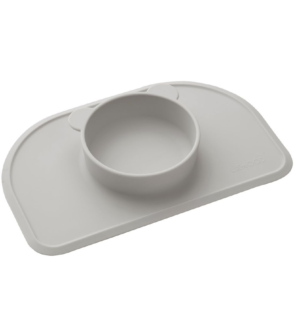 Liewood Placemat w. Bowl - 1 Room - Polly - Dumbo Grey