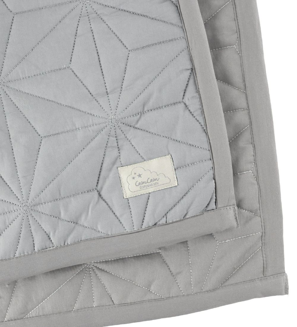 Cam Cam Blanket - 120x120 - Solid Grey