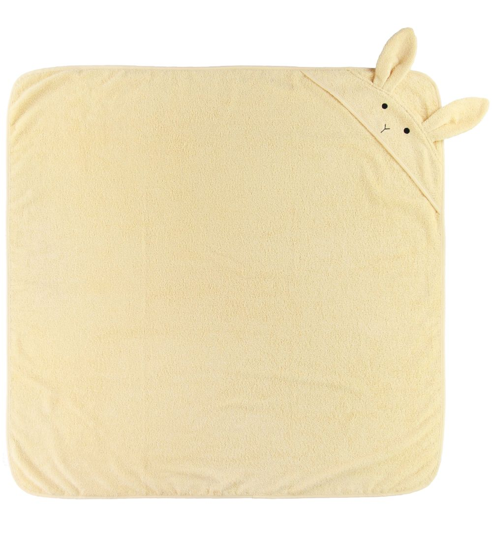 Liewood Hooded Towel - Augusta - 100x100 - Rabbit Smoothie Yello