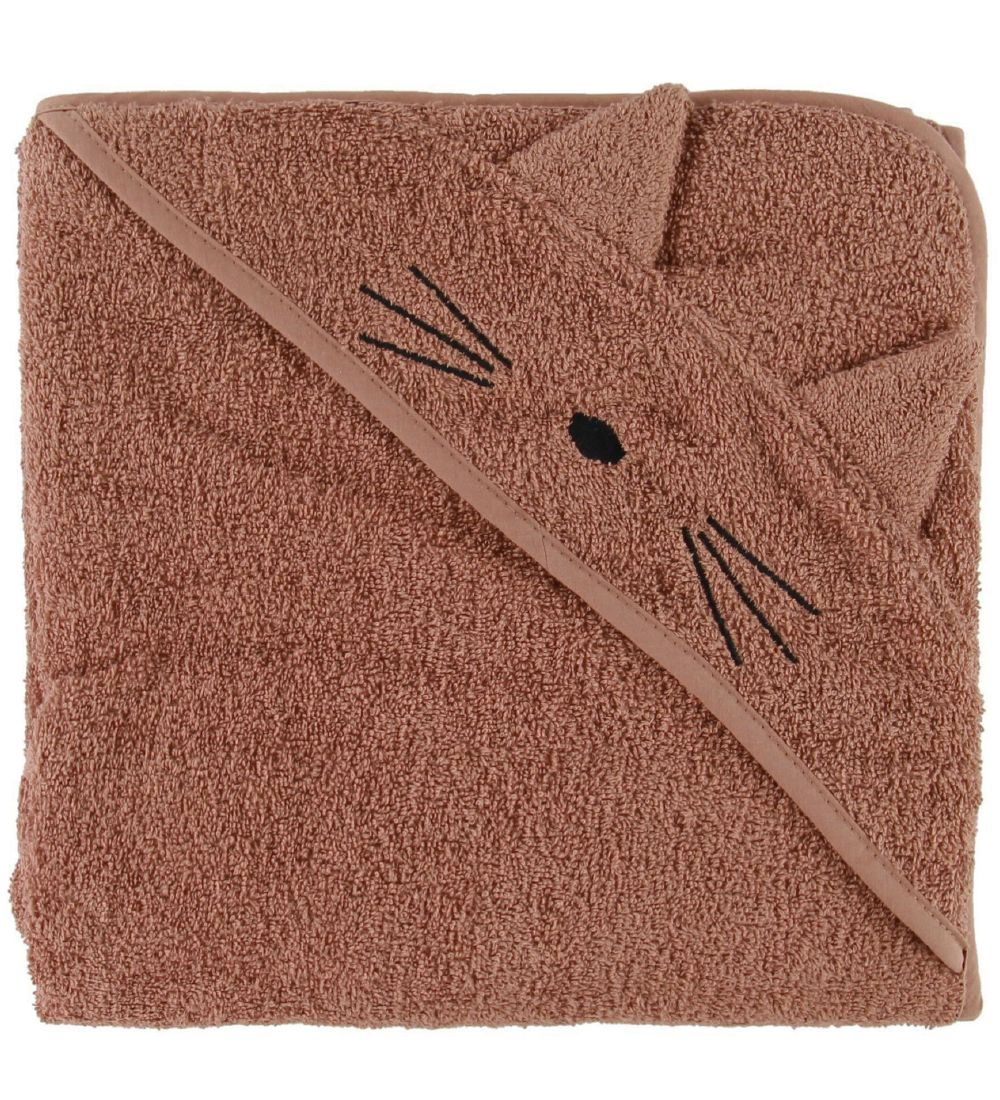 Liewood Hooded Towel - Augusta - 100x100 - Cat Terracotta