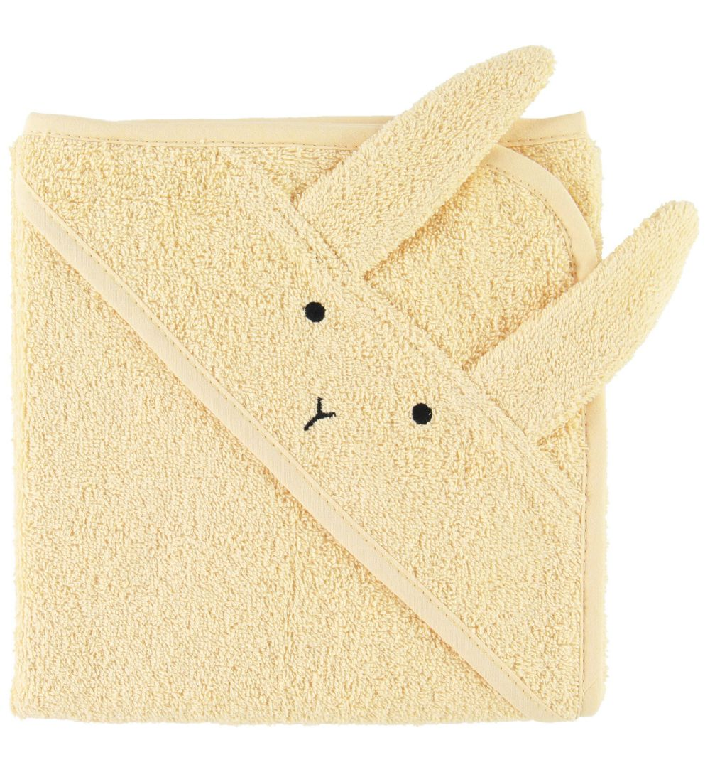 Liewood Hooded Towel - Albert - 70x70 - Rabbit Smoothie Yellow