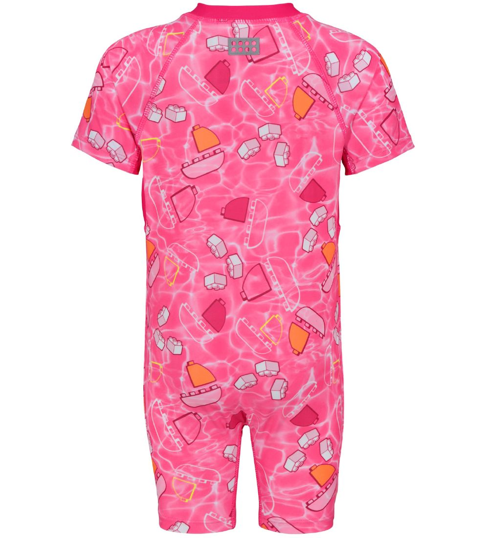 Lego Duplo Coverall Swimsuit - Angela - UV50+ - Pink w. Blocks