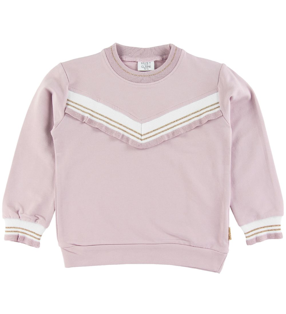 Hust and Claire Sweatshirt - Sissa - Rose w. Ruffle