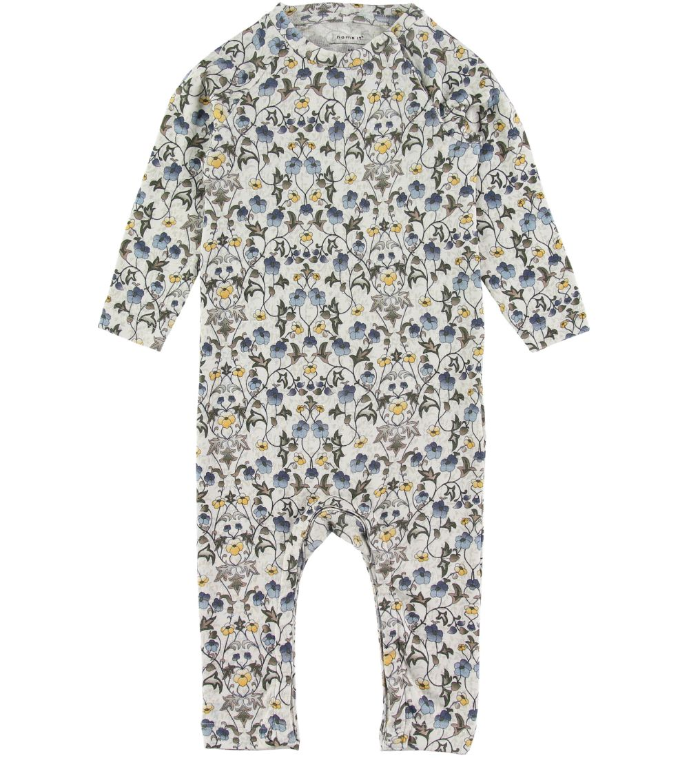 Name It Jumpsuit - Francine - Snow White w. Flowers